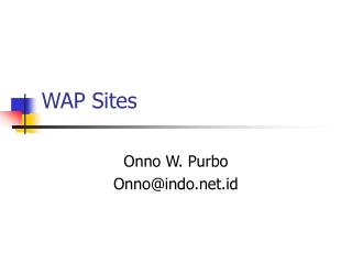 WAP Sites