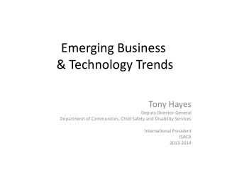 Emerging Business  & Technology Trends