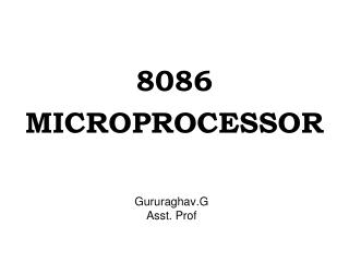 Gururaghav.G Asst. Prof