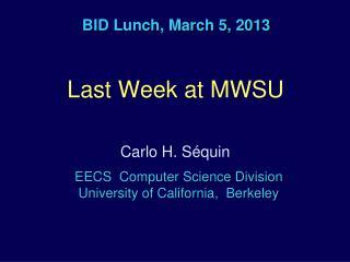BID Lunch, March 5, 2013