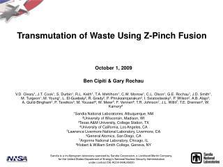Transmutation of Waste Using Z-Pinch Fusion