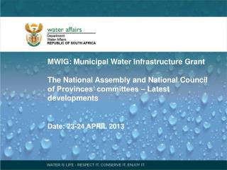MWIG: Municipal Water Infrastructure Grant