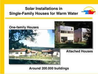 Solar Installations in Single-Family Houses  for Warm Water