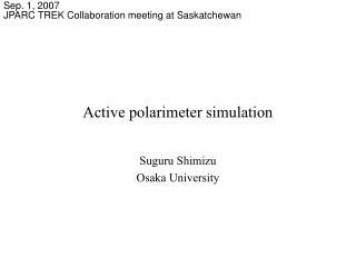 Active polarimeter simulation