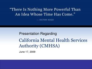 California Mental Health Services Authority CMHSA