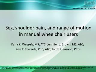 Sex, shoulder pain, and range of motion in manual wheelchair users