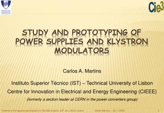 Study and prototyping of power supplies and klystron modulators