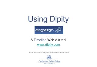 Using Dipity