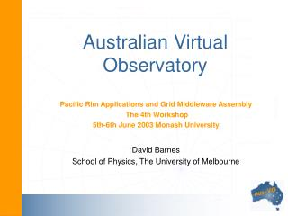 Australian Virtual Observatory