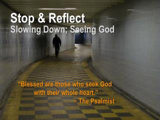 Stop & Reflect