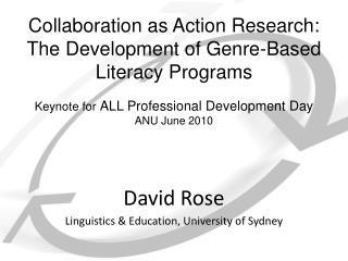 Collaboration as Action Research: The Development of Genre-Based Literacy Programs