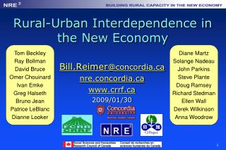 Rural-Urban Interdependence in the New Economy