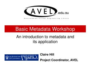 Basic Metadata Workshop