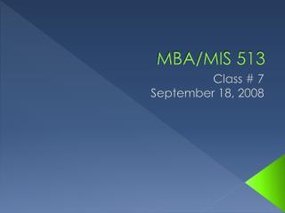 MBA/MIS 513