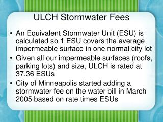 ULCH Stormwater Fees