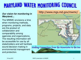 Our vision for monitoring in Maryland …