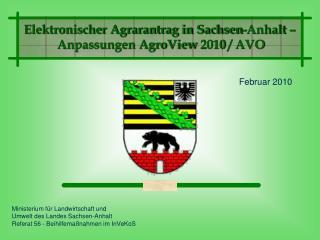 Ministerium für Landwirtschaft und  Umwelt des Landes Sachsen-Anhalt
