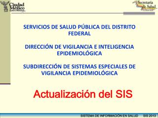 SERVICIOS DE SALUD PÚBLICA DEL DISTRITO FEDERAL