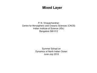 Mixed Layer
