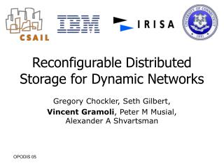 Reconfigurable Distributed Storage for Dynamic Networks