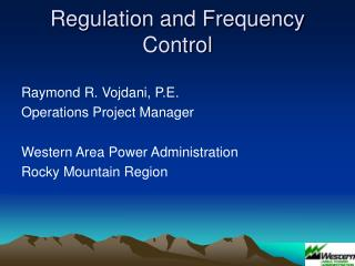 Regulation and Frequency Control