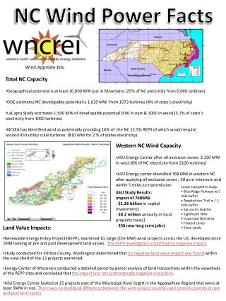 NC Wind Power Facts