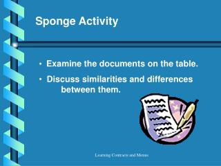 Sponge Activity