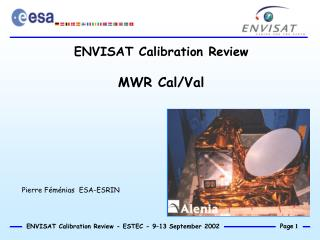 ENVISAT Calibration Review MWR Cal/Val