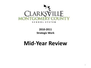 2010-2011 Strategic Work  Mid-Year Review