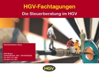 HGV-Fachtagungen
