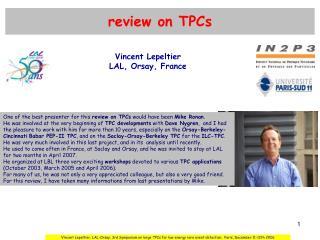 review on TPCs