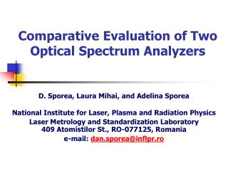 Comparative Evaluation of Two  Optical Spectrum Analyzers