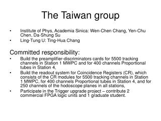 The Taiwan group