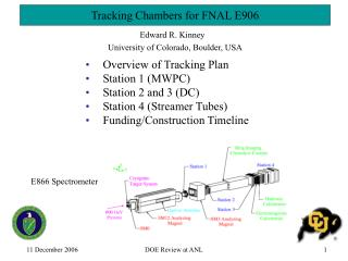 Tracking Chambers for  FNAL E906