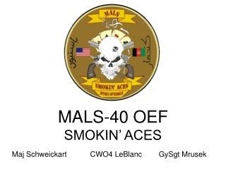 MALS-40 OEF SMOKIN' ACES