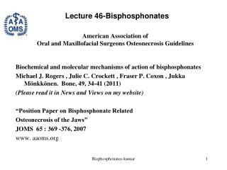 American Association of  Oral and Maxillofacial Surgeons Osteonecrosis Guidelines