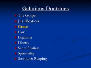Galatians Doctrines