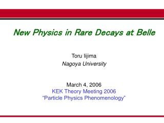 New Physics in Rare Decays at Belle