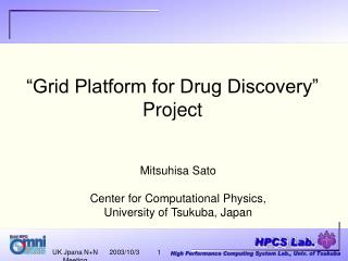 """Grid Platform for Drug Discovery"" Project"
