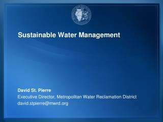Sustainable Water Management