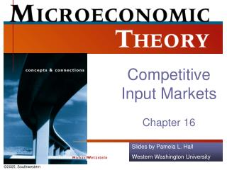 Competitive Input Markets