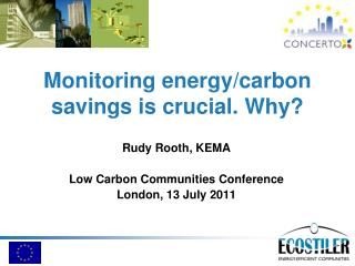 Monitoring energy/carbon savings is crucial. Why?