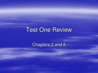 Test One Review