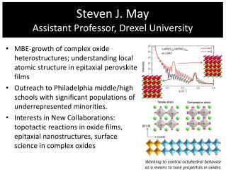 Steven J. May Assistant Professor, Drexel University