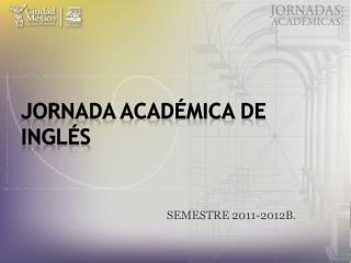 JORNADA ACADÉMICA DE INGLÉS