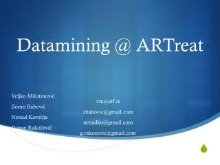 Datamining @ ARTreat