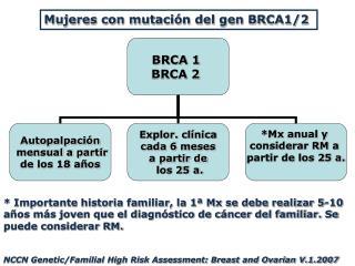 Mujeres con mutación del gen BRCA1/2