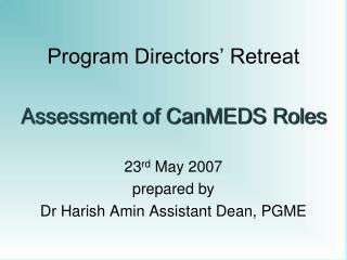 Program Directors' Retreat