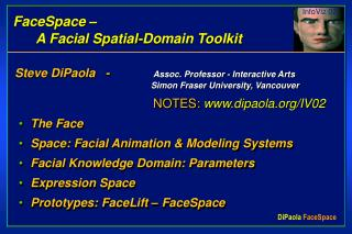 FaceSpace �        A Facial Spatial-Domain Toolkit