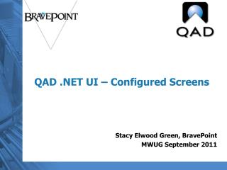 QAD .NET UI – Configured Screens